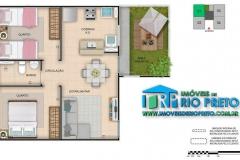 2 Dormitórios com Área Privativa - 1ª Opção
